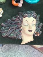 Ritka Art deco női fej