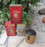 4db Pléh doboz, dobozok, Omnia, Karaván kávé, nosztalgia darabok