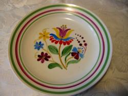 Zsolnay szignált fali tányér