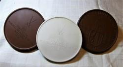 Meissen kétoldalas  porcelán plakett 3 db