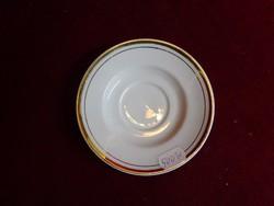 Alföldi porcelán kávéscsésze alátét, arany szegélyes, 10,5 cm átmérővel.
