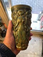 Zsolnay eozin mázas váza, porcelán, hibátlan, ritkaság.