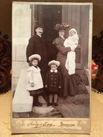 Debreczen/Gondy és Egey/+ Németh József/Antik családi fotó ,1800-as évek!!