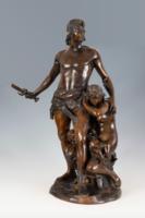 Nagyméretű bronz szoborcsoport