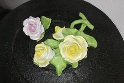 Gyönyörű Herendi rózsák, rózsa, sárga, rózsaszín, Gyűjtői darab