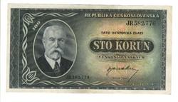 100 korun 1945 Csehszlovákia
