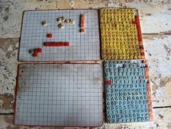 Mágneses szókirakó játék retro 2 készlet egyben