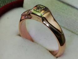 Brilles tömör arany gyűrű (14k)