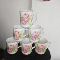 6 db  Zsolnay rózsa, rózsás bögre, bögrék , Szép állapotban vannak, Gyűjtői darabok, nosztalgia