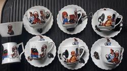 Ritka Victoria jelzett, retro mese porcelán/baba porcelán/gyerek porcelán -keresztelő ajándék