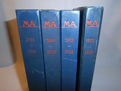 MA. Aktivista folyóirat. 1916-1925 Reprint kiadás teljes! Kassák Lajos