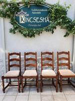 4 db kárpitozott tölgyfa szék