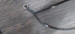 Ezüst fonott bőr nyaklánc