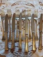 6db ezüst villa+kés készlet.