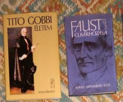4 db  Komoly zenei könyv, operaénekesek zeneszerzők - válogatás