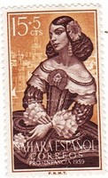 Spanyol Szahara félpostai bélyeg 1959