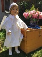 Antik német porcelánfejű baba