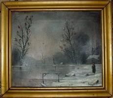 Neogrády Antal téli táj