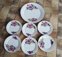 Alföldi porcelán süteményes készlet, nosztalgia darabok
