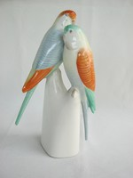 Hollóházi porcelán papagáj