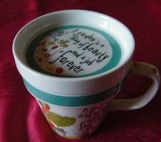 Fedeles, nagyméretű teás csésze, angol 11 x 10 cm
