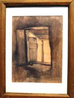 Csikós András (1947-2006): Öreg pajta ablaka kalapáccsal