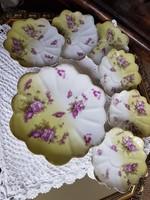 Antik, angol porcelàn sütemènyes kèszlet