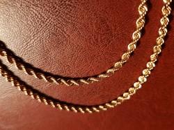 14k hosszú  arany nyaklánc / 19,04 g