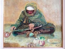 Czétényi Vilmos (1928-2003): Arab jelenet