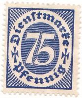 Német birodalom hivatalos bélyeg 1922
