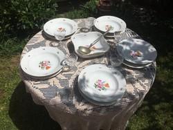 Kahla étkészlet 5személyes tányérok retro