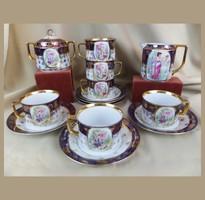 Régi porcelán teáskészlet