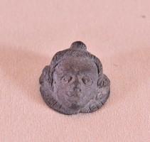 Antik ókori bronz női portré