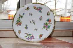 Herendi Viktória 36,5 cm tányér tál kínáló LEÁRAZTAM!