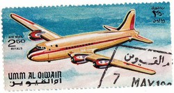 Umm al Qiwain légiposta bélyeg 1968