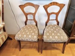 Különleges, korai bieder székek, osztrák, 1860-as évek