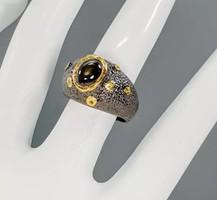 Fekete csillagzafír gyűrű