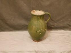 Zöld tejes mázas kerámiakorsó XIX. század