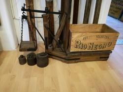 Fa mázsa, régi mázsa súllya, loft, dekoráció