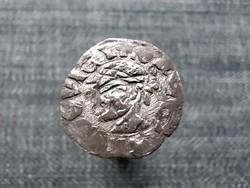 I. Lajos (1342-1382) szerecsenfejes ezüst Dénár ÉH438 / id 22640/