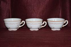 3 db Zsolnay narancs lüszteres teás csésze  ( DBZ 00104 )