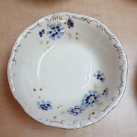 Eredeti Zsolnay búzavirágos kompótos tál tálka sorszámozott jelzett 3.