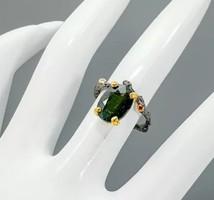 Zöld turmalin gyűrű