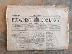 1912.május 12-i budapesti Közlöny - háborús hírekkel