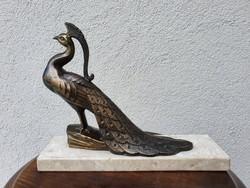 Bronz páva szobor