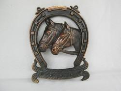 Equestrian metal wall keychain