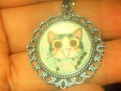 Aranyos kis Cica - Macska Tibeti ezüst Medál 1.