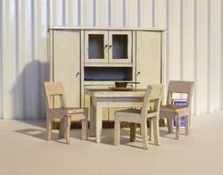 Régi, antik bababútor, baba bútor, baba konyha szép állapotban-babaház méretű