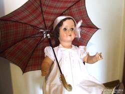 Régi, kisméretű kislány, gyerek vagy baba esernyő, ernyő