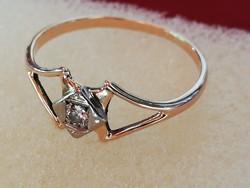 Antik orosz brilles arany gyűrű (14k)